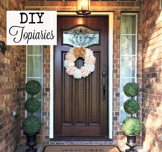 12 Diy Container Topiary Ideas To Beautify Your Home Balcony Garden Web Topiary Diy Front Porch Decorating Topiary