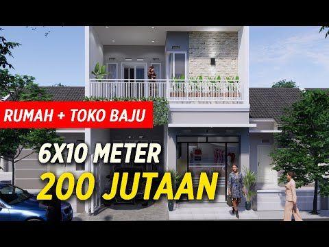 Rumah Toko Baju 6x10 M 2 Lantai Rooftop Bpk Tanto Youtube Arsitektur Rumah Gaya Rumah Rumah