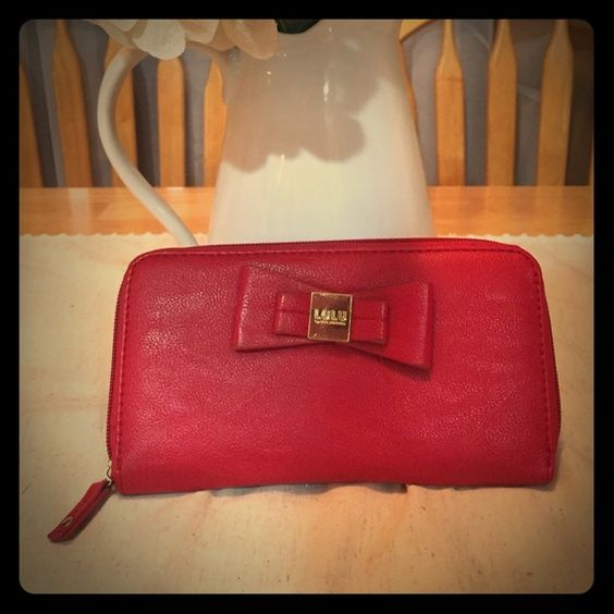 Wallet Red wallet with bow Bags Wallets