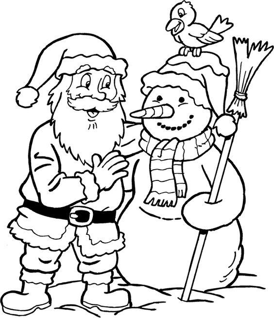 De Kerstman en een sneeuwpop