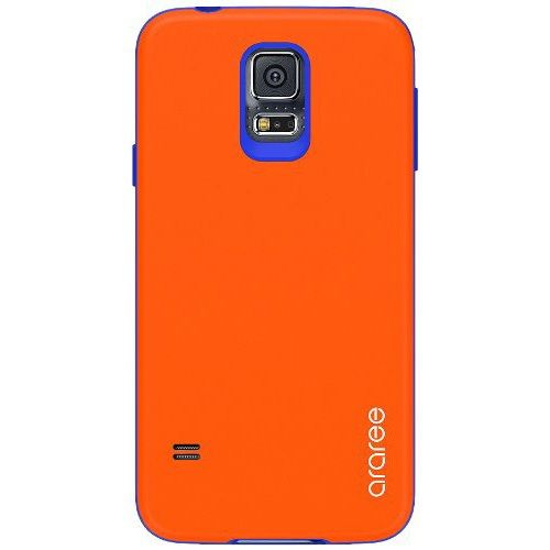 Carcasa Samsung Galaxy S5 Amy orange coral naranja azul