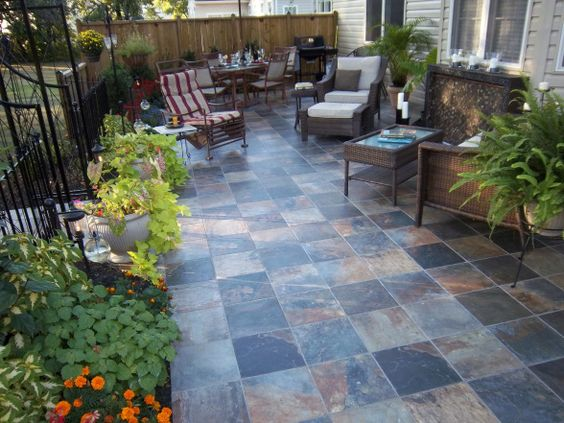 Very nicely done small patio deck and patio ideas for Pictures of small patios