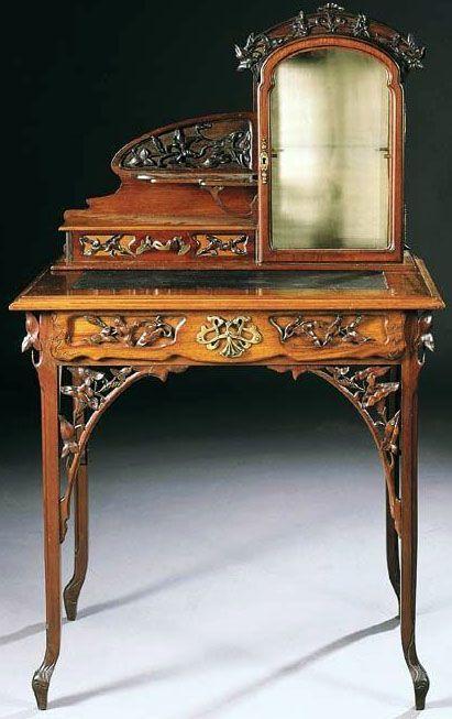 """cgmfindings: """" Art Nouveau - Coiffeuse - Acajou - Léon Benouville """""""