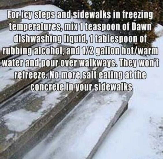 Melt Ice From You Sidewalk Helpful Hints Pinterest