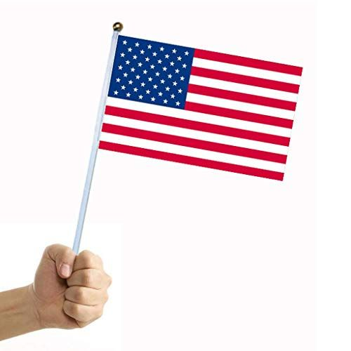 Youeneom American Stick Flag 5pcs 5 X 8 American Hand Held Stick Flags For Patriotic Party 4th Of Patriotic Party 4th Of July Decorations Independence Day