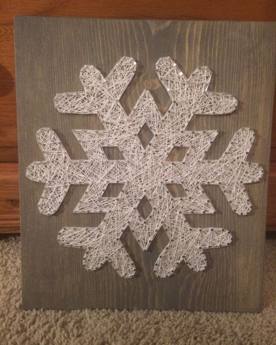 Snowflake String Art (Christmas/Winter) - Order from KiwiStrings on Etsy! ( www.KiwiStrings.etsy.com )