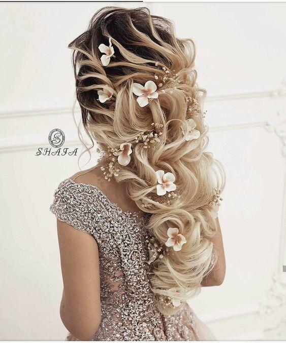 تسريحات شعر للعروس غاية في الرقة والرومانسية 2019 Elegant And Romantic Bridal Hairstyles Collection Hair Beauty Wedding Hairstyles Hair Styles