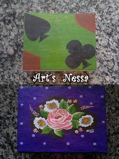 Art's Nêssa - Artesanato: Porta baralho transformado (2009/2012)