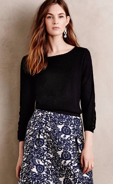 Lace-Sleeve Pullover #anthrofave