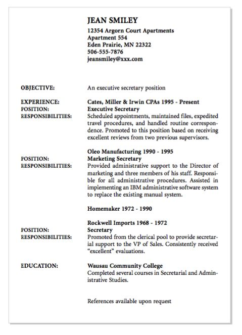 Executive Secretary Resume Example Of Executive Secretary Resume  Httpexampleresumecv