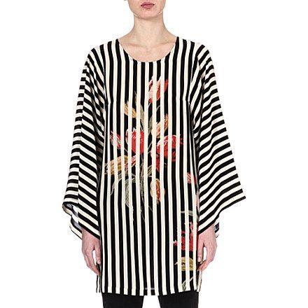DRIES VAN NOTEN Striped kimono top (Ecru PRINT SELFRIDGES