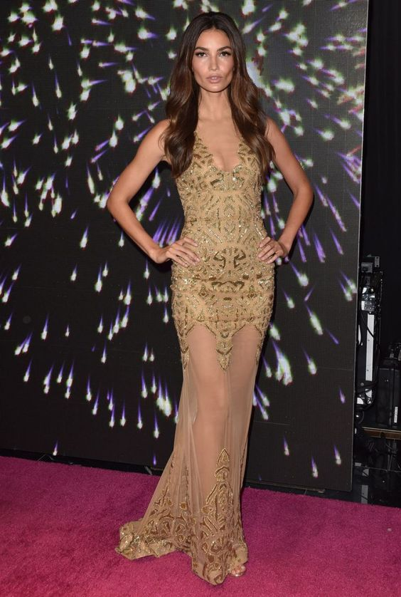 Lily Aldridge In Zuhair Murad attends Victoria's Secret Fantasy Bra Unveiling. #bestdressed