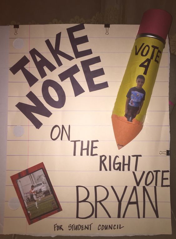 election posters idea for 5th grade   just b.CAUSE