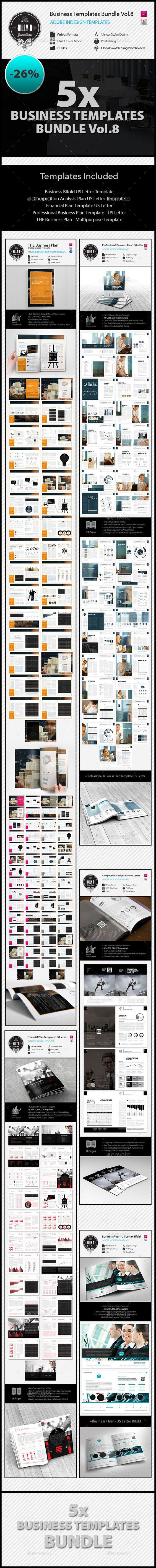 Business Templates Bundle VOL.8 — InDesign INDD #print ready #competition • Available here → https://graphicriver.net/item/business-templates-bundle-vol8/12858052?ref=pxcr