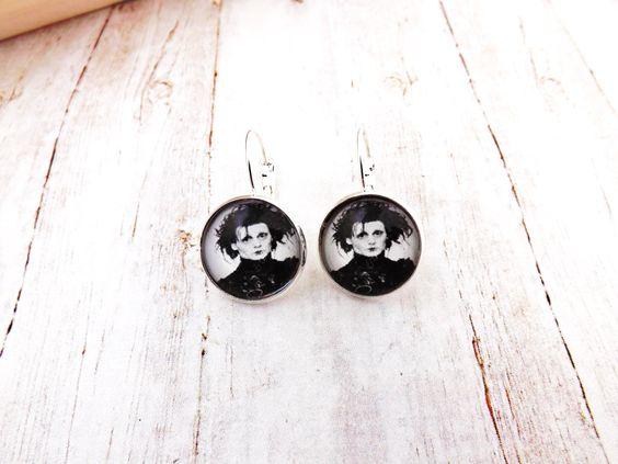 Edward Scissorhands Silver Finish Earrings