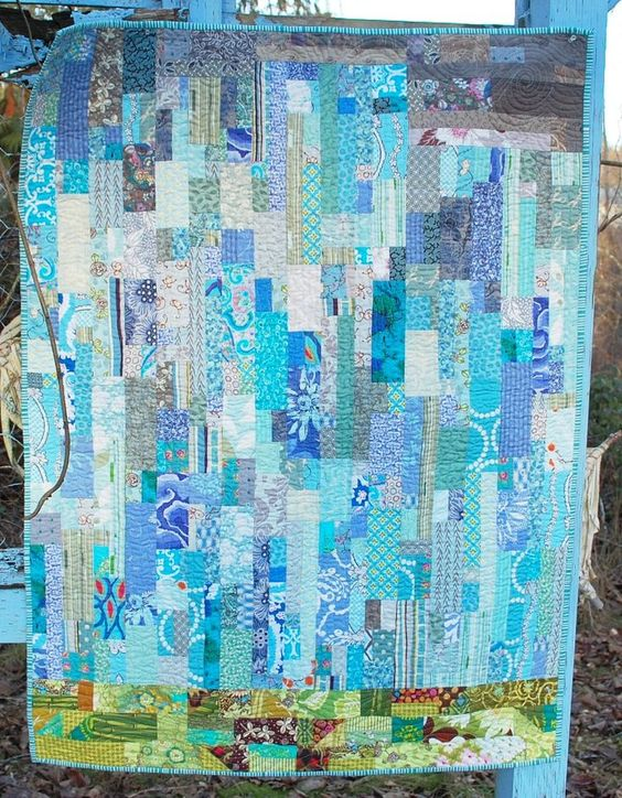 """Rain by Blue Nickel Studios. Check the link to read about my Rain Quilt and a little chatter about being """"happy sad"""" and lots of water coming down."""