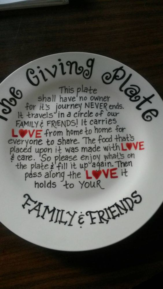 The Giving Plate. Hand painted. Perfect for the holidays! Order now and beat the holiday rush.