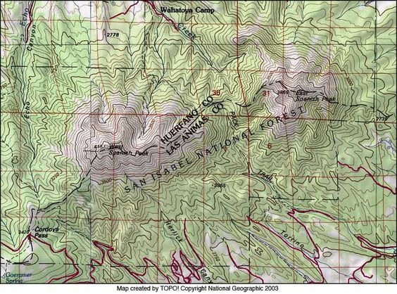 Worksheet. topography map of spanish peaks colorado  Google Search  Wild