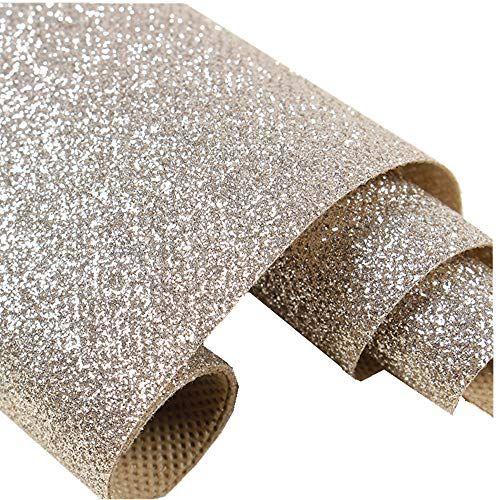 Self Adhesive Champagne Glitter Wallpaper Peel And Stick Roll Sparkle Glitter Decor Art Craft Fabric 17 4in Glitter Wallpaper Glitter Decor Wallpaper Samples