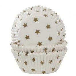 cupcake papiertjes gouden sterren
