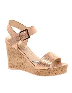 rose gold! Ted Baker Breen Metallic Wedges  walk a mile in