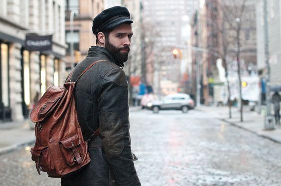 cash lawless & belstaff jacket, fisherman's hat, leather backpack: Hats Men, Men S Fashion, Fashionindie Men S, Street Style, Gentlemen Style, Clothing Style Men, Men Fashion, Leather Backpacks