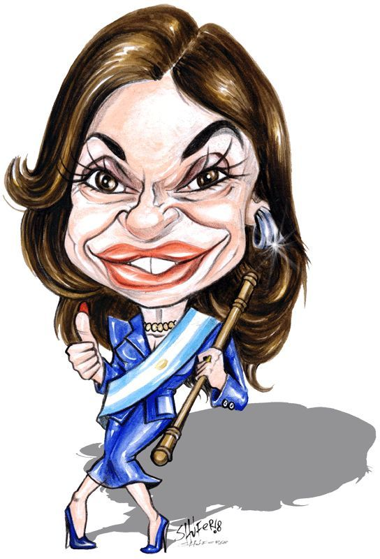 Resultado de imagen para Caricaturas de Cristina Fernández