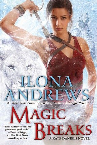 Magic Breaks by Ilona Andrews (Kate Daniels #7)  Magic Breaks is amazing storytelling, once again gripping you into this magic – tech world. As the Kate Daniels' story progresses so does my love for the characters, the outstanding world building and the emotional connection this writing team has created. This is one of my favorite series, I highly recommend reading Magic Breaks…  http://tometender.blogspot.com/2014/08/magic-breaks-by-ilona-andrews-kate.html