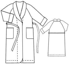 Raglan Sleeve Bath Robe Pattern