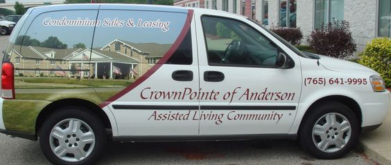CrownPointe of Anderson / van graphics / van wrap / van lettering / condo sales & leasing / assisted living / Indianapolis / Indiana / Ohio / Kentucky