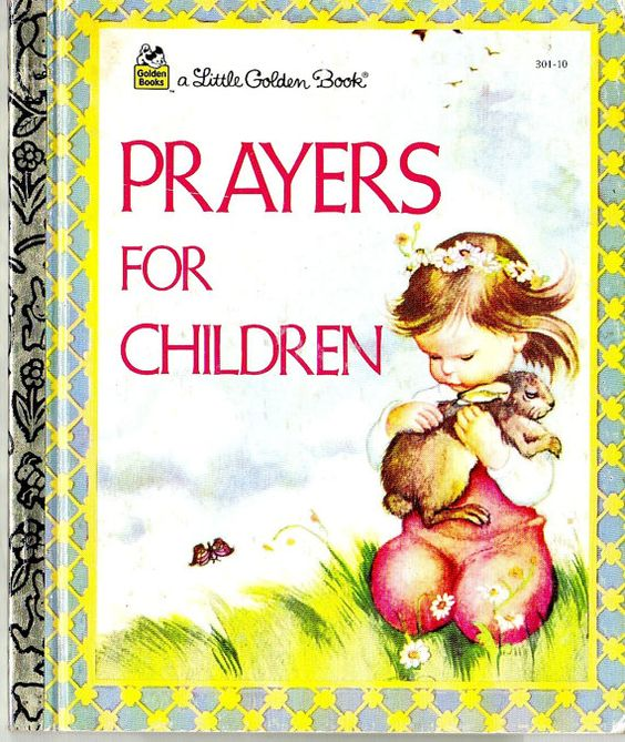 Prayers for Children  A Vintage Little Golden Book by BunnysLuck
