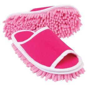 Now this is my kind-of cleaning.  (Microfiber Cleaning Slippers $11)