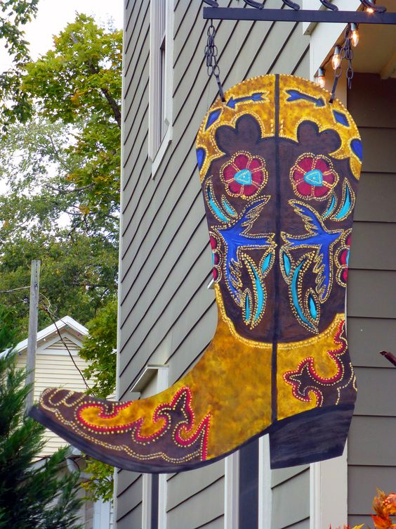 Ornate Boot Store Sign at Leiper's Fork, Tennessee