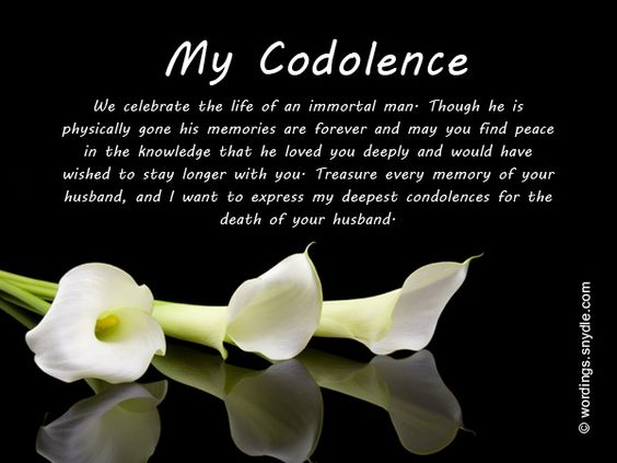 Sympathy Messages for Loss of Husband Wordings and Messages - condolence messages