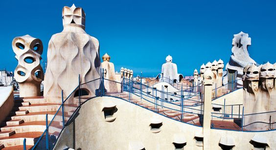 Barcelona - La pedrera by Gaudi - one of my  favorite places in the world... just inspiring