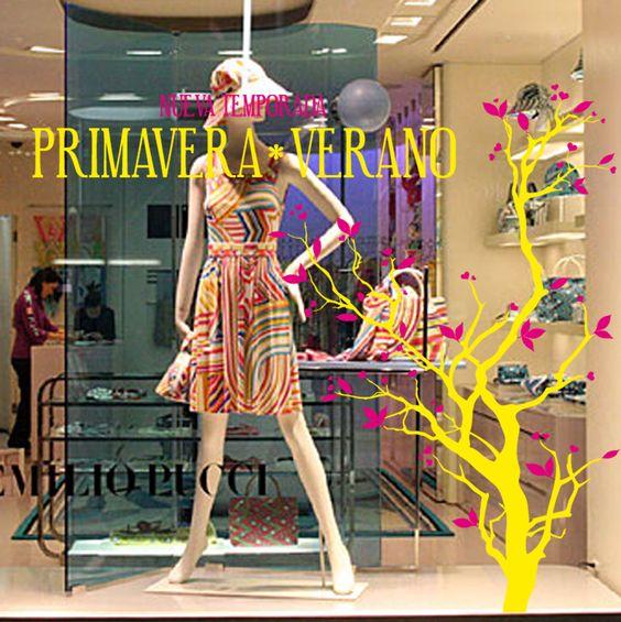 Vinilo primavera verano 007 vinilos decorativos primavera for Decoracion de vidrieras de ropa
