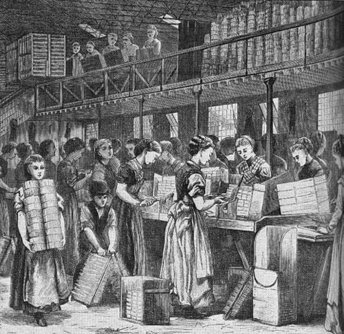 How were working conditions for factories in the 1800's?