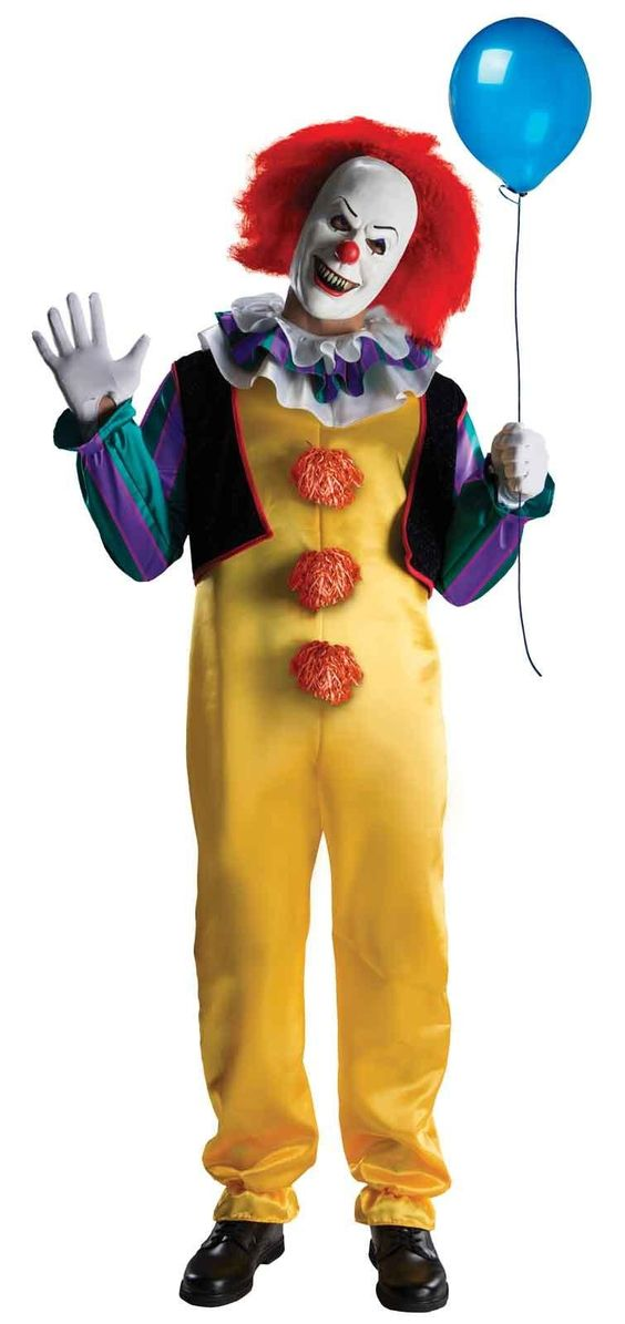 Stephen King's IT Deluxe Pennywise Clown Costume - $44.99