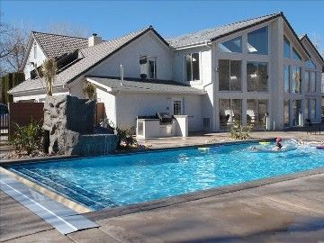 St. George house rental - Outdoor Pool and Spa area, with outdoor kitchen 1000/night sleeps 30-35