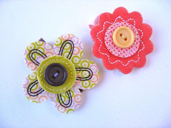 Funky Flower Clip Set