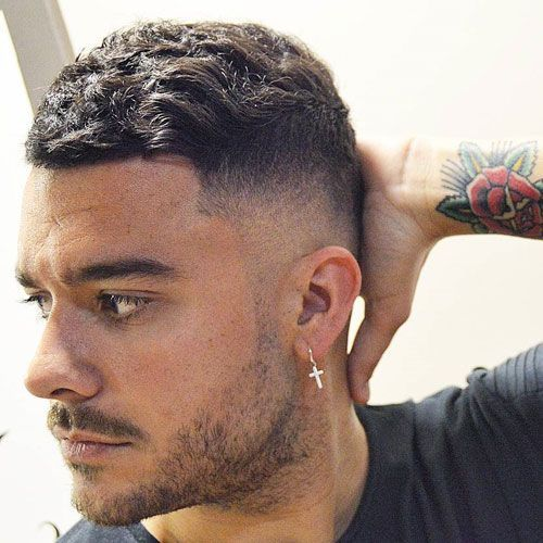 Short Thick Wavy Hair On Top High Bald Fade Shorthairstylescortes Wavy Hair Men Thick Hair Styles Long Hair Styles Men