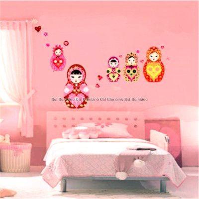 girl's room:   BABUSHKA DOLL REMOVABLE WALL STICKER DECAL NURSERY KIDS