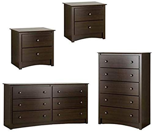 Buy Home Square 4 Piece Furniture Set 2 Nightstands Dresser Chest Espresso Finish Online Alyssafavour In 2020 Furniture Furniture Sets Business Furniture