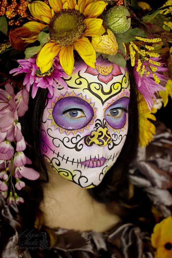 Hope Shots Photography Artist Unique Irish Model Amy D. Sugar Skull Face painting:
