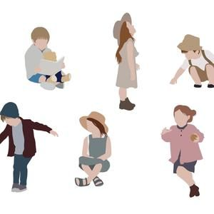 Flat Vector People Pack Family Outdoor Clipart Ai Eps Png Human Person Man Woman Children Illustration Cutout For Visualization In 2021 Vector Illustration People People Illustration Children Sketch
