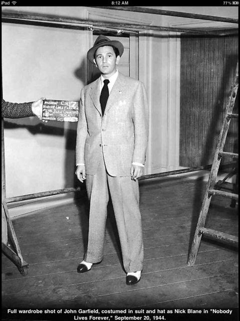 John Garfield. Love the shoes.