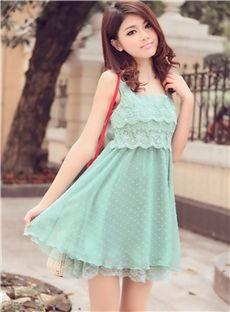 Temperament Sleeveless Chiffon Lace Dress
