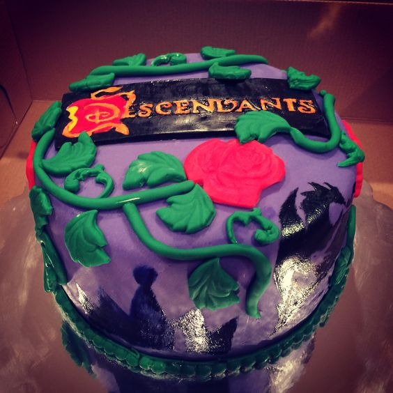Disney Descendants birthday cake for my daughter: