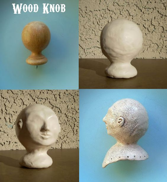 wooden knob-Lost and Found Lane: New Doll