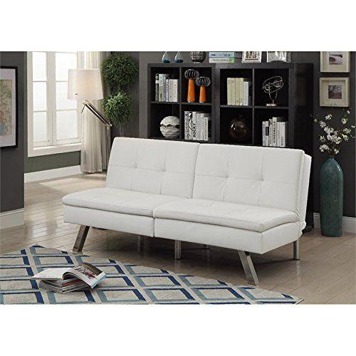 Furniture Of America Fosso Faux Leather Futon In White White
